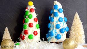 candy coated ice cream cone christmas trees with a sweet surprise