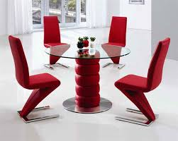 Dining Room Table Sets Leather Chairs by Luxurious And Splendid Red Dining Room Sets All Dining Room