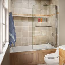 dreamline aqua swing 34 in x 58 in semi framed hinge tub door in