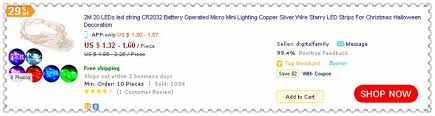 cheap 2m 20leds led string cr2032 battery operated micro mini