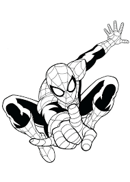 spiderman colouring pages free coloring printable kids