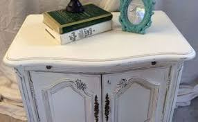 Shabby Chic Side Table French Script Side Table Hometalk