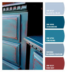 peacock blue over red painted dresser paint colors pinterest