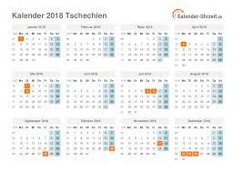 Kalendář 2018 Svátky Feiertage 2018 Tschechien Kalender übersicht