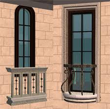 Dormer Window With Balcony Mod The Sims Classical Windows With Stone Surrounds