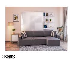 Sectional Sofa Bed Clean Murphysofa Sectional Wall Bed Expand Furniture