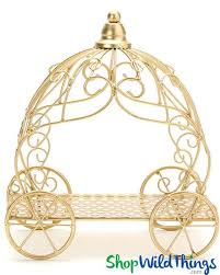 carriage centerpiece gold cinderella carriage decoration for party shopwildthings