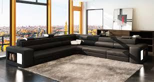 canapé angle noir deco in canape d angle noir et blanc design en cuir venise