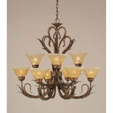 Iron Chandelier With Crystals Amber Crystal Chandelier Bellacor