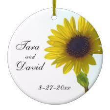 sunflower wedding ornaments keepsake ornaments zazzle