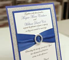top compilation of royal blue and silver wedding invitations