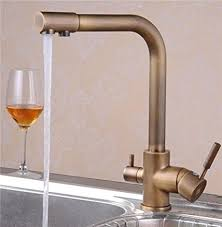water filtration faucets kitchen greeningspring antique brass 3 way 2 handles kitchen faucet
