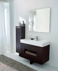 small bathroom vanity ideas white glossy ceramic free standing