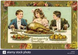 vintage thanksgiving postcards two boys and eating turkey dinner