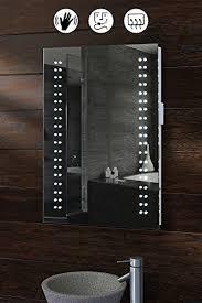 led bathroom mirrors uk my furniture opticon illuminated led bathroom mirror amazon co uk