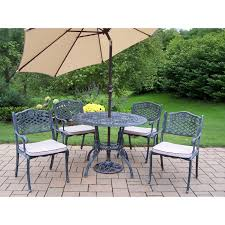 Aluminum Cast Patio Dining Sets - oakland living elite all weather wicker patio dining set oakland