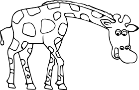 giraffe coloring page wecoloringpage