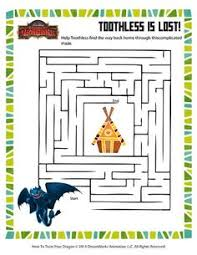 connect dots train dragon toothless worksheet