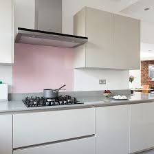 pink kitchen ideas contemporary kitchen with grey handleless cabinetry and pink