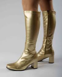 s gogo boots size 11 knee high gogo boots gold fashion boots gold patent size 11
