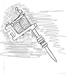 tattoo gun sketch petaled custom design the tattoo gun tribute