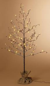 4 foot red berry led lighted christmas tree in burlap base
