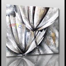 Peinture Noir Et Blanc by Moderne Art Abstrait De Mur Noir Et Blanc Simple Fleur Peinture à