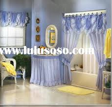 Bathroom Curtains Set Shower Curtains Swag Homes Decoration Tips