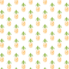 pattern illustration fruit pineapple greenish yellow women