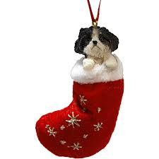 black white puppy cut shih tzu ornament calendars