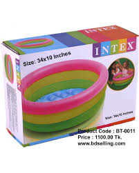 Inflatable Kids Pool Intex Water Tub Inflatable Pool Baby Bath Seat 34 Inches