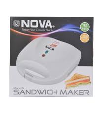 nova nsm 2412 2 sandwich maker price in india buy nova nsm