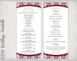 Wedding Bulletin Wedding Program Template Navy Blue Lace Diy Order