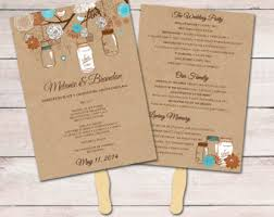 diy wedding program fan template wedding fan template fan program template diy wedding