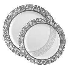 clear plastic plates clear plastic plates with silver plates combo wedding plates