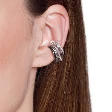 ear cuffs images gunmetal circle 2 0 ear cuff