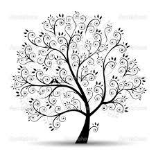 tree branch stencil art tree beautiful black silhouette u2014 stock