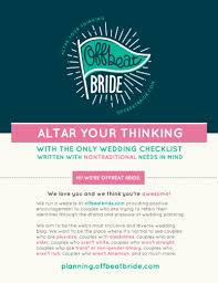 wedding checklist free printable offbeat wedding checklist