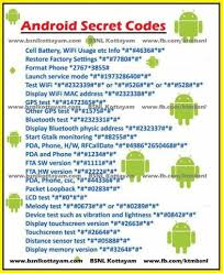 android secret codes tech tips android secret codes
