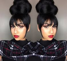 black hair buns 45 beautiful black women hair styles big bun hairstyles