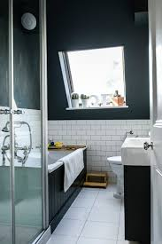 bathrooms classic bathroom with clawfoot black bathtub and tiles