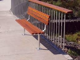 s050 bench seating with back furniture for public spaces street