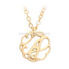 Custom Monogram Necklace Monogram Jewelry Monogram Jewelry Suppliers And Manufacturers At