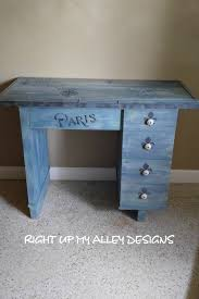 blue writing desk french writing desk small wood desk annie sloan painted furniture