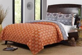 amazon com boho chic moroccan paisley pattern grey orange cotton