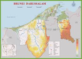 Physical Maps Brunei Physical Map