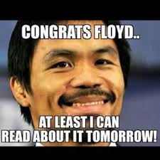 Pacquiao Mayweather Memes - mayweather defeats pacquiao in fight of the century