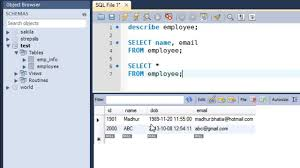 sql query browser tutorial sql tutorial 14 the select query youtube