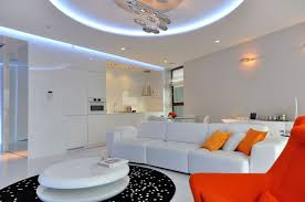 Living Room Lighting Apartment Stylish Contemporary Apartment Boasting Sophisticated Lighting System
