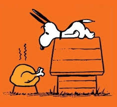 snoopy brown doing the happy description from